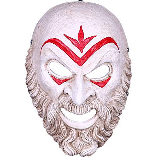 nihiug Assassin Odyssey Bösewicht Maske Creed Halloween Show Dress Up Spiel Harz,A-OneSize