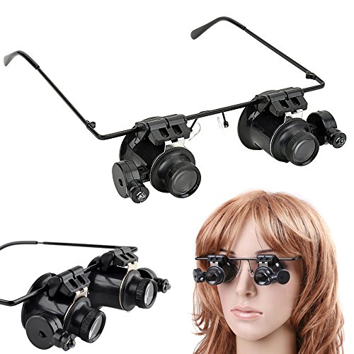 Continu® Continu® 20 x Vergrößerung Lupenbrille mit Licht für Juweliere Uhrmacher etc