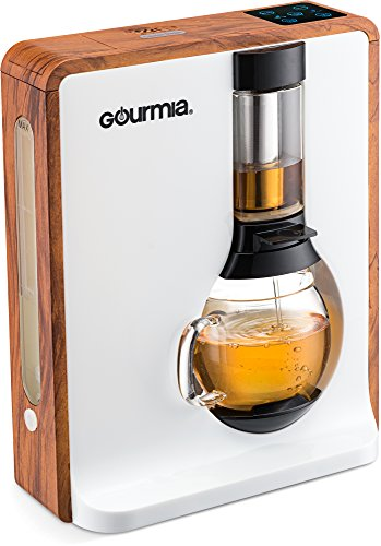 Gourmia GTC8000W Electric Coffee & Tea Brewing System - Loose Leaf Tea Infuser Machine - Automatic Brew Settings - Stainless Steel Mesh Filter - 4 Cup/32 oz Glass Carafe - UK Plug