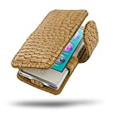 PDair iPod Nano 8 / Nano 7 Folio Ledertasche (Braunes Krokodilmuster), Leder Flip Folio Stil Schutzhülle | Leder-Buch-Kasten für iPod Nano 8th / iPod Nano 7th Generation