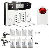 ECHTECH - Kit de sistema de alarma antirrobo GSM inalámbrico, sistema de seguridad para el hogar, dispositivo antirrobo con función de autollamada