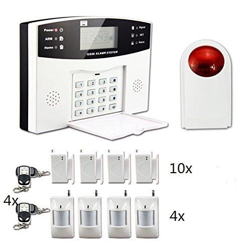 Système d'alarme, Ectech Sécurité sans fil GSM Autodial Call Home Système d'alarme anti-intrusio