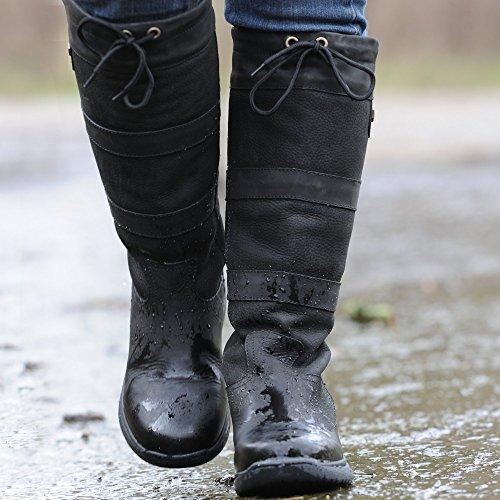 Dublin Grandes bottes imperméables Marron foncé noir - Noir