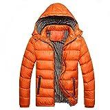 Honestyi Herren Wintermütze Abnehmbare Baumwolle Jacke Verdickung Warm Cotton Padded Coat(Schwarz,Rot,Blau,Orange,Gelb,M/4XL)
