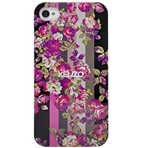 Kenzo Kila - Coque noire motif fleuri roses pour iPhone 4/4S - Mobile Avenue