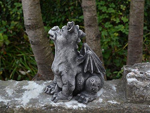 Lustiger Drache Fantasiefigur aus Steinguss frostfest