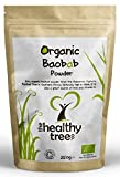 Organic Baobab Powder | Premium Quality Pure Superfruit | High in Fibre, Calcium, Vitamin C and Antioxidants | Baobab Powder by TheHealthyTree Company | 250g Pouch from TheHealthyTree Company