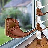 proheim Fenster-Dichtung 24 Meter selbstklebende Gummi-Dichtung für Fenster/Türen verschiedene Profile aus EPDM-Gummi, Farbe:Braun, Profil:P-Profil