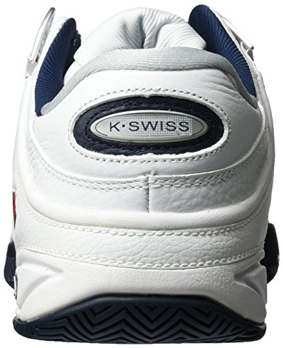 K-Swiss Performance Defier RS, Chaussures de Tennis Homme Blanc (White/dressblues/fieryred)