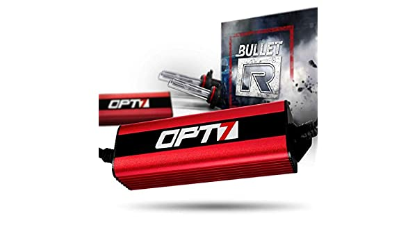 All Bulb Sizes and Colors 3X Brighter 2 Yr Warranty 3000K Yellow Xenon Light 4X Longer Life OPT7 Bullet-R H11 H8 H9 HID Kit