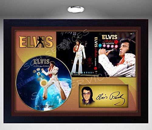 SGH SERVICES Elvis Presley Aloha aus Hawaii Signiert gerahmt Foto CD 2 -