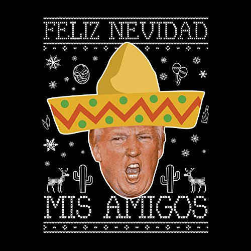 Donald Trump Mexican Christmas Knit Women's Vest Black