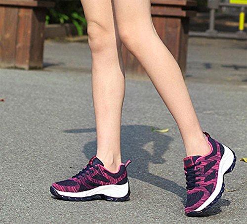 Traspirante scarpe sportive maglia scarpe casual fondo pesante scarpe da donna sono aumentate black rose color