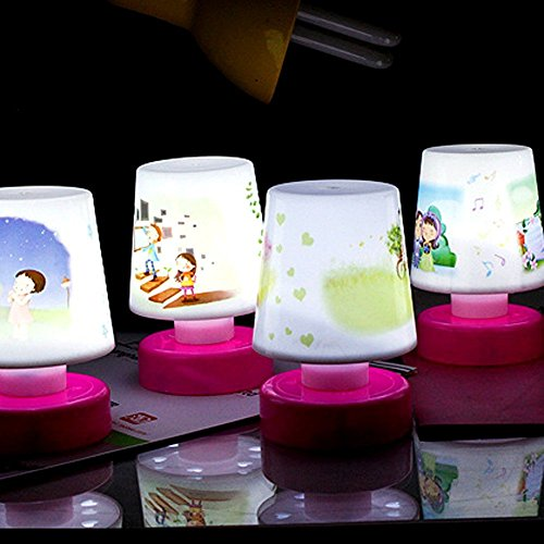 Gifts Online Kids LED Night Lamp Birthday Return Gift (Pack of 6) - Assorted Designs