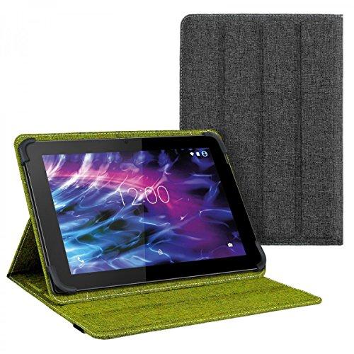 eFabrik Tasche für Medion Lifetab S10365 / S10366 10.1 Zoll Schutz Hülle Case Cover grün grau