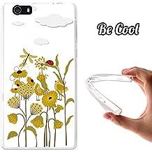 Becool® Fun - Funda Gel Flexible para Elephone M2, Carcasa TPU fabricada con la mejor Silicona, protege y se adapta a la perfección a tu Smartphone y con nuestro exclusivo diseño. Flores primaverales