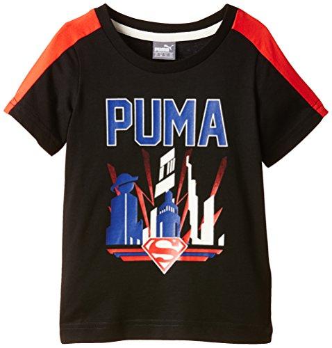 Puma Fun Superman Shirt Jungen 134 schwarz - schwarz / rot
