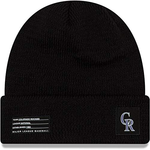 New Era Colorado Rockies 2018 On-Field Sport Knit MLB Wintermütze, One Size