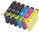6 Multipack de alta capacidad Epson T1636 / Epson 16XL / Epson 16 Cartuchos Compatibles 3 negro, 1 ciano, 1 magenta, 1 amarillo para Epson WorkForce WF-2010W, WorkForce WF-2510WF, WorkForce WF-2520NF, WorkForce WF-2530WF, WorkForce WF-2540WF. Cartucho de tinta . T1631 , T1632 , T1633 , T1634 © 123 Cartucho