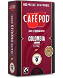 CaféPod 10 Colombia Huila Lungo  Nespresso Compatible Capsules (Pack of 10 total of 100 Capsules)