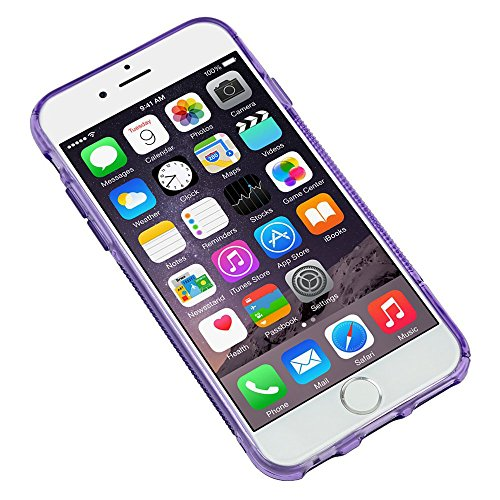 Ultraflache weiche Schutzhülle APPLE IPHONE 6 PLUS 5.5 POUCES [Le X Premium] [Rot] von MUZZANO + STIFT und MICROFASERTUCH MUZZANO® GRATIS - Das ULTIMATIVE, ELEGANTE UND LANGLEBIGE Schutz-Case für Ihr  Lila + 3 Displayschutzfolien