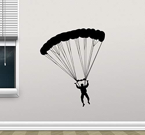 Njuxcnhg Extreme Sport Parashute Jumper Wandtattoos Vinyl Fallschirmspringer Wandaufkleber Home Room Kreative Decor Qualität Kunst Wandbilder 57X70 cm (Öse Jumper)
