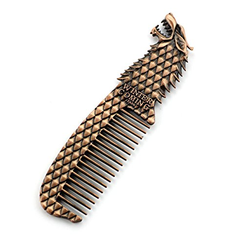 **PREMIUM QUALITY**Game of Thrones Comb *Winter is Coming** RUSTY BRONZE* Men Women **FREE GIFT BAG WITH ALL ORDERS (Black Widow Anzug)