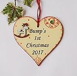 Bump's 1st Christmas cutesy heart plaque 2017