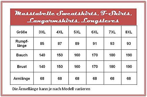 Übergrössen !!! WOW !!! Hippes Polo-Shirt Langarm LAVECCHIA in 2 Farben 3856 Schwarz