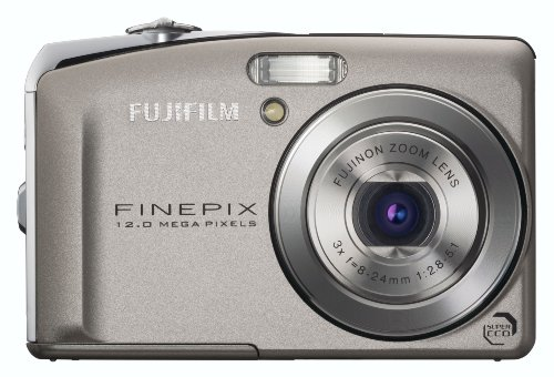 FujiFilm FinePix F50fd Digitalkamera (12 Megapixel, 3-fach opt. Zoom, 6,9 cm (2,7 Zoll) Display) silber