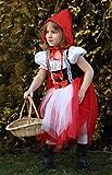 Brandsseller Karneval Fasching Rotkäppchen Kostüm mit Kapuzenumhang Verkleidung für Kinder - Größe: 152/164 für Brandsseller Karneval Fasching Rotkäppchen Kostüm mit Kapuzenumhang Verkleidung für Kinder - Größe: 152/164