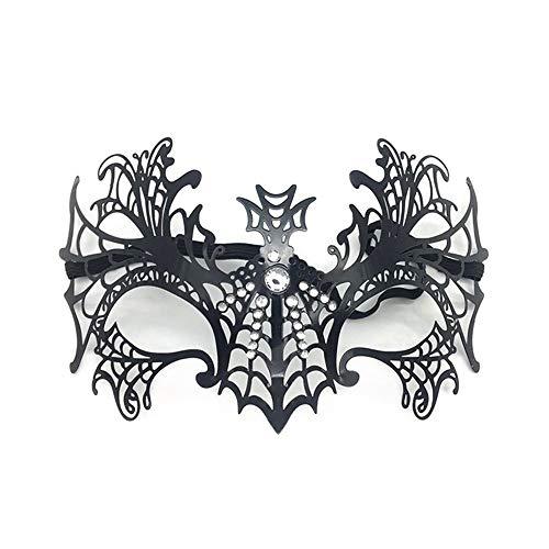 KTYX Halloween Bat Maske Party Sexy Ausschnitt Halbes Gesicht Metall Maske Weibliche Maskerade Schießen Requisiten Maske (Weiblich Halloween-gesichter Unheimlich)
