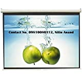 Inlight Wall Type Pull Down Spring Action Projector Screen, Size: - 8 Ft. (Width) X 6 Ft. (Height), In Imported...
