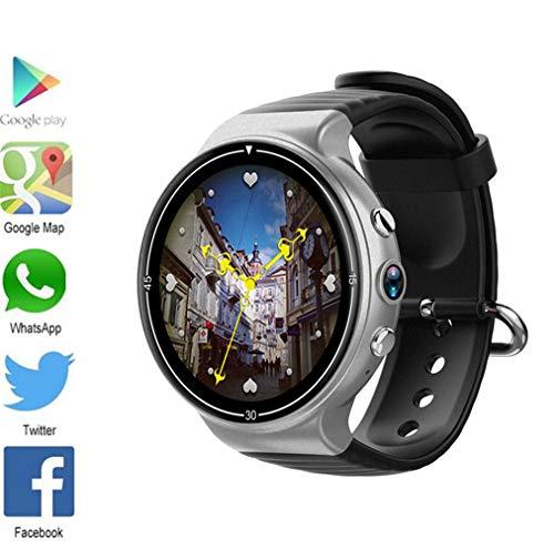 7 Betriebssystem (J.W. Bluetooth Smart Uhr, Android 7.0 Betriebssystem, Pulsmesser Fitness Tracker wasserdichte Sport 2.0MP Kamera Smartwatch für iOS Android, schwarz,Silver)