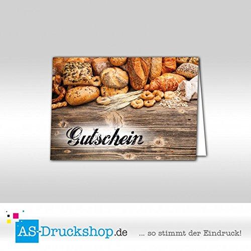 Gutschein Bäckerei Gemischtes Brot / 50 Stück/DIN A6