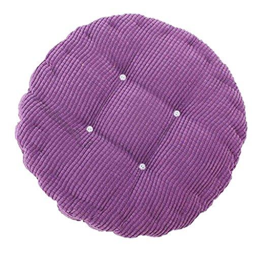 Sharplace Chaise en Coton Ronde Pad Coussin de Siège Tatami Coussin pour Bureau Voiture Maison Décor - Violet