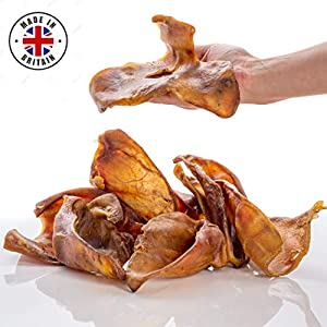 Dragonfly-Products-Pigs-Ears-For-Dogs-Large-12-or-25-pieces-British-UK-Natural-Raw-Healthy-Treat-Higher-Welfare-Grade-A-Premium-Whole-Pork-Ear-Chew