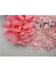 Cabello accesorios dulce bebé niña con gasa encaje pelo flor Headband(2 pcs)
