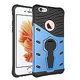 Schutzhülle für iphone 6S (4.7 Zoll), Blau Hybrid Handy Schutzhülle Tasche Dual Layer aus Hart PC und Silikon Armor Case Ständer Schale Tasche für Apple iphone 6 / 6S 4.7 Smartphone