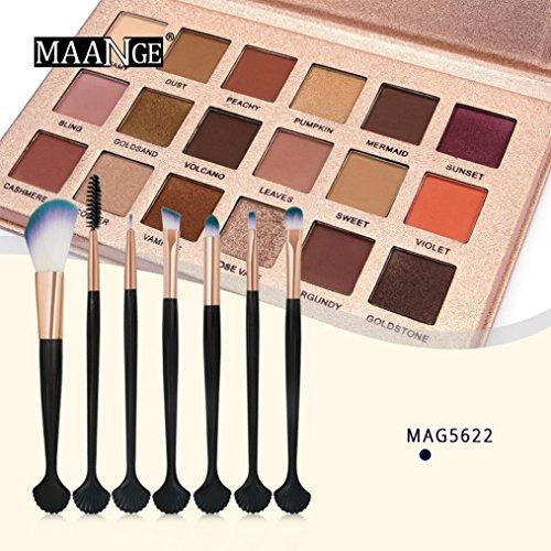Fards à paupières,18 couleur Shimmer Glitter fard à paupières poudre Set Matt Eyeshadow Set pinceaux de maquillage par LHWY (D)