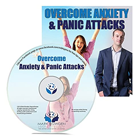 How To Deal With And Overcome Anxiety And Panic Attacks Hypnosis CD - Become More Relaxed and at Ease - Lead a Happier Life Without Fear of Symptoms Striking. Great For Stress