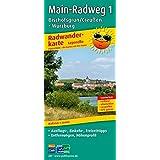 Main-Radweg 1, Bischofsgrün/Creußen - Würzburg: Leporello Radtourenkarte mit Ausflugszielen, Einkehr- & Freizeittipps, wetterfest, reissfest, abwischbar, GPS-genau. 1:50000