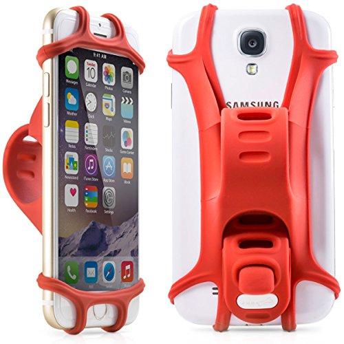 Bike Phone Holder for any Smartphone, Won't Break or Rust, Design Award Winning Universal Bicycle Mount for Phones With 4-6 Inch Screens, Compatible with Road or Mountain Bikes & Motorbikes or Scooters