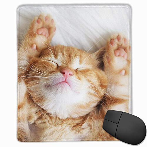 Cat Design Rectangle Non-Slip Rubber Mouse Pad with Stitched Edges