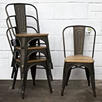 Amazon Co Uk Metal Dining Chairs Dining Room Furniture Home
