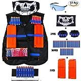 Elite Tactical Vest Kit for Nerf N-strike Elite Series,40-Dart Refill Pack,seamless skull face mask by VOROSY
