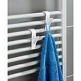 Wenko–Ganchos para radiador, 6 unidades, color blanco