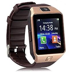 E-COSMOS Bluetooth Smart Watch Wrist Watch Phone with Camera & SIM Card Support