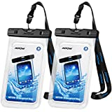 """Mpow Waterproof Phone Case, IPX8 Waterproof Phone Pouch Dry Bag with Portable Lanyard for iPhone XS/XS Max/XR/X Galaxy S10/S9/S8 up to 6.5"""", Perfect for Beach, Hiking, Travel 2 Pack"""