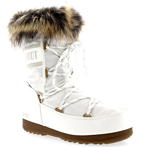 Moon Boot Tecnica W.E. Monaco, Stiefel & Stiefeletten für Damen, tief geschnitten, Schwarz, Damen, weiß - weiß, 52